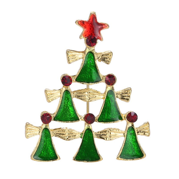 Christmas Star Angels Brooch