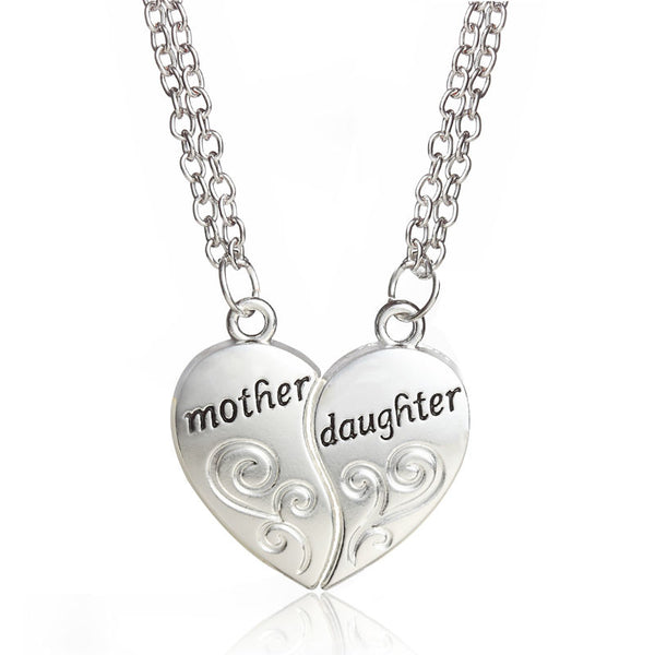 2 Pieces Mother Daughter Necklace