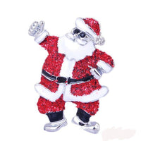 Santa Claus Christmas Brooch