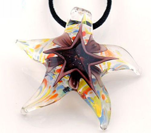 Brown Starfish Pendant Necklace