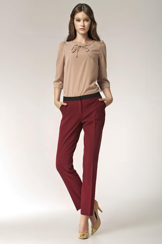 Maroon Nife Pants&Leggings