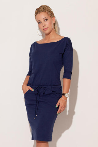 Navy Blue Figl Dresses