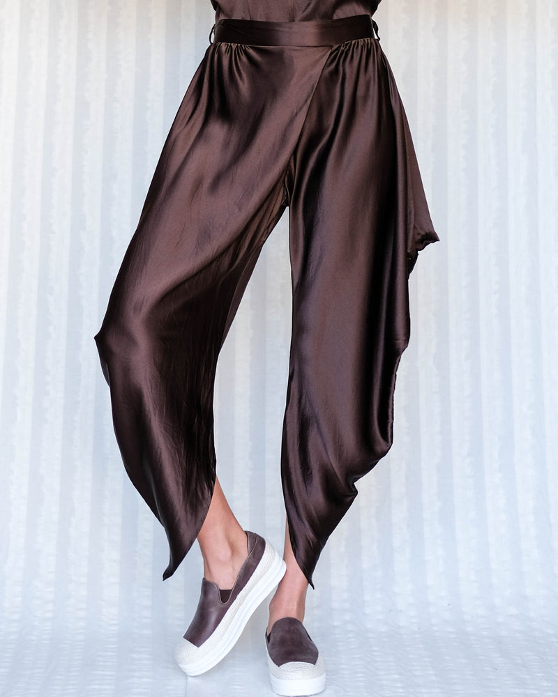 Etsu Silk Pant in Chocolate