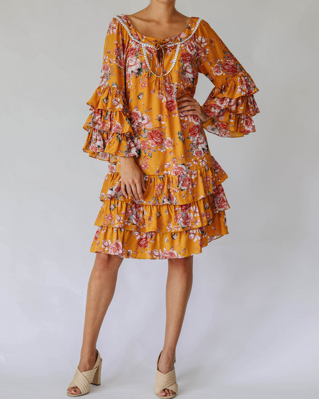 Nina Dress in Saffron Floral