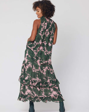 Kira Maxi Skirt in Winter Floral