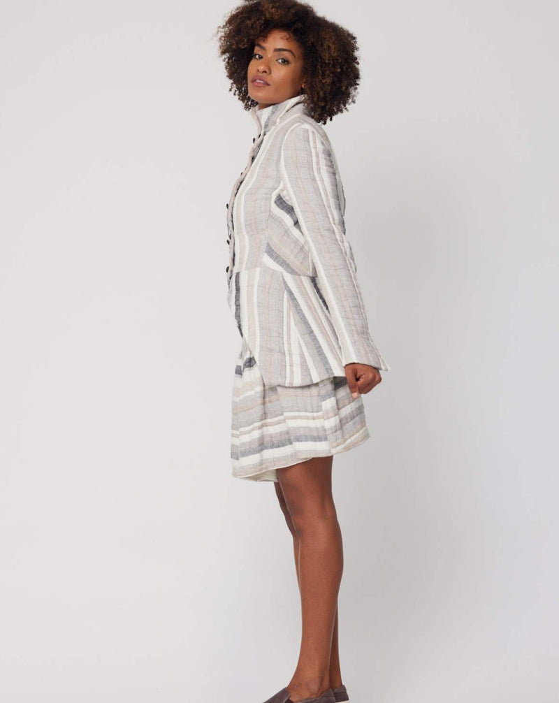 Hilde Jacket Linen Stripe
