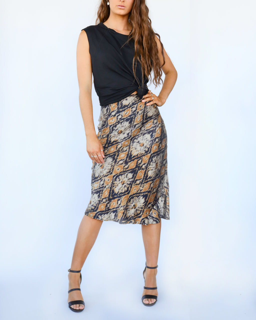 Ikat Silk Fynn Skirt