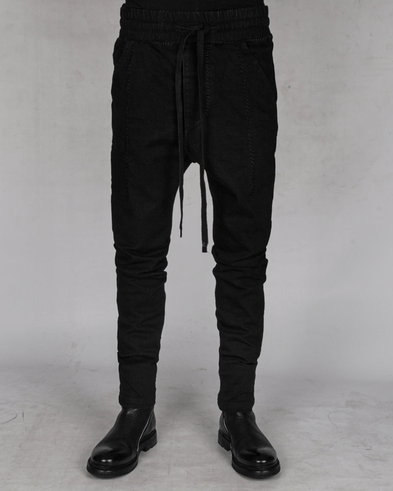 10R:son - B1002S - Stitched drop denim trousers - Stilett.com