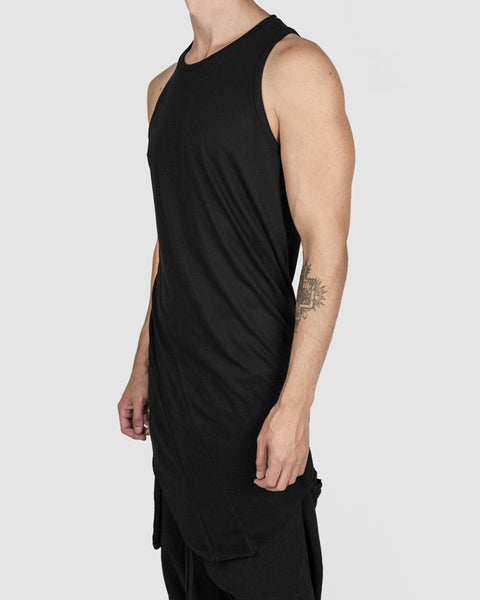 Army of me - Curve hem lightweight cotton singlet - Stilett.com