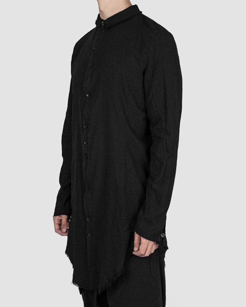 Army of me - Elongated cotton shirt black - Stilett