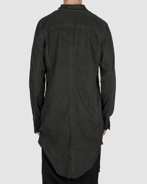 Army of me - Elongated cotton shirt graphite - Stilett.com