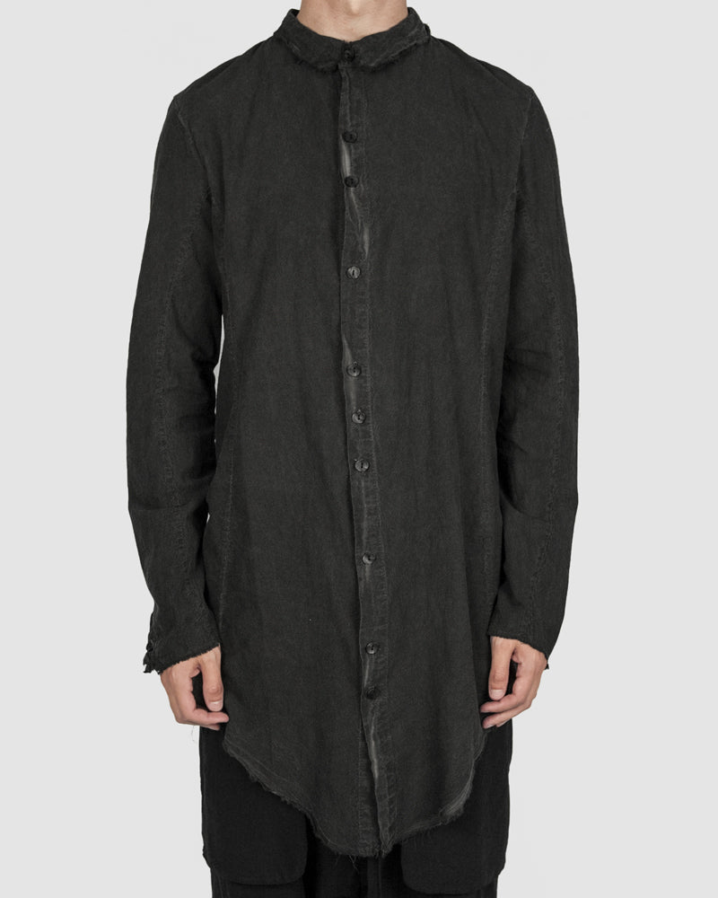 Army of me - Elongated cotton shirt graphite - https://stilett.com/