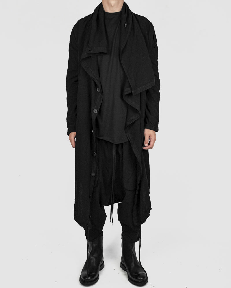 Army of me - Lightweight oversized cotton coat black - Stilett.com