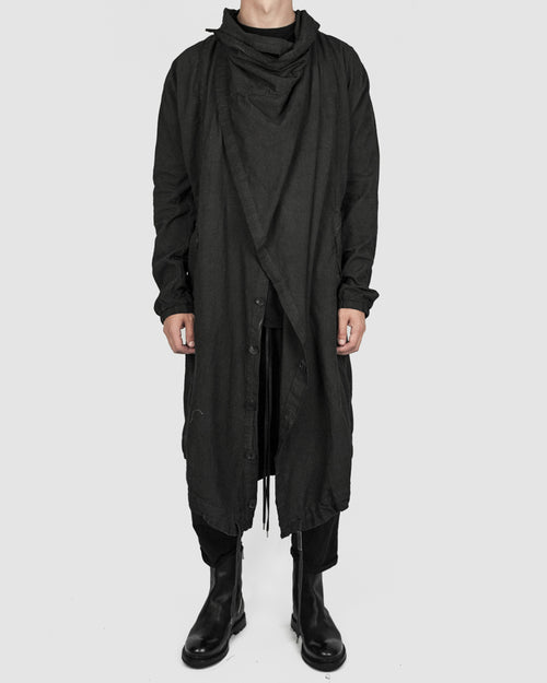 Army of me - Lightweight oversized cotton coat graphite - Stilett.com