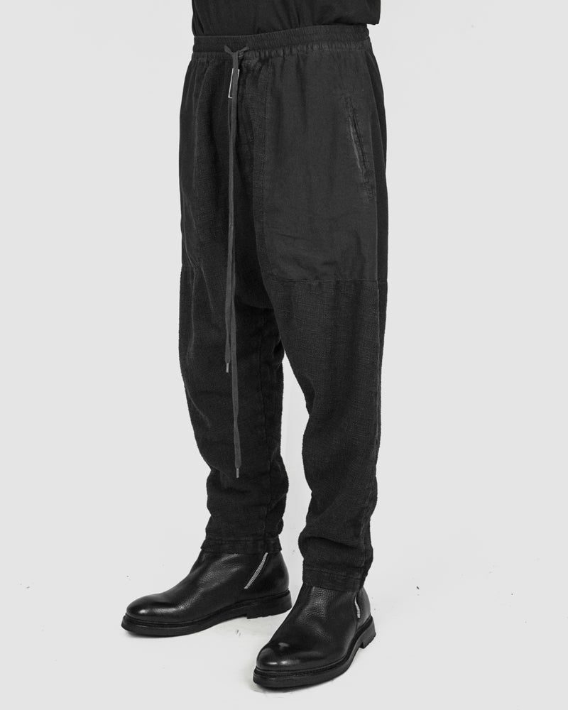 Army of me - Paneled drop crotch trousers graphite - Stilett.com