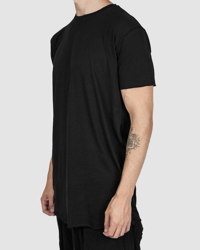 Army of me - Scar stitch detail cotton tshirt black - Stilett.com