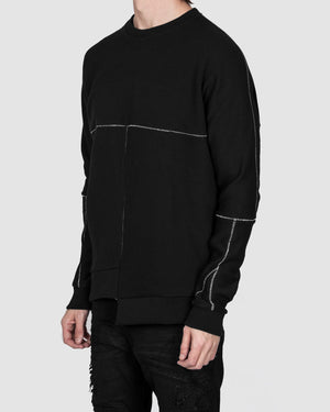 Army of me - Asymmetric hem sweatshirt black - https://stilett.com/