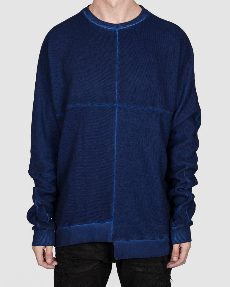 Army of me - Asymmetric hem sweatshirt royal blue - Stilett.com