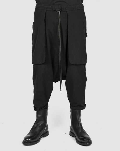 Army of me - Baggy lightweight cotton trousers black - Stilett.com