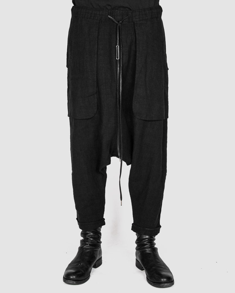 Army of me - Baggy linen trousers black - Stilett.com