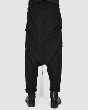 Army of me - Baggy linen trousers black - https://stilett.com/