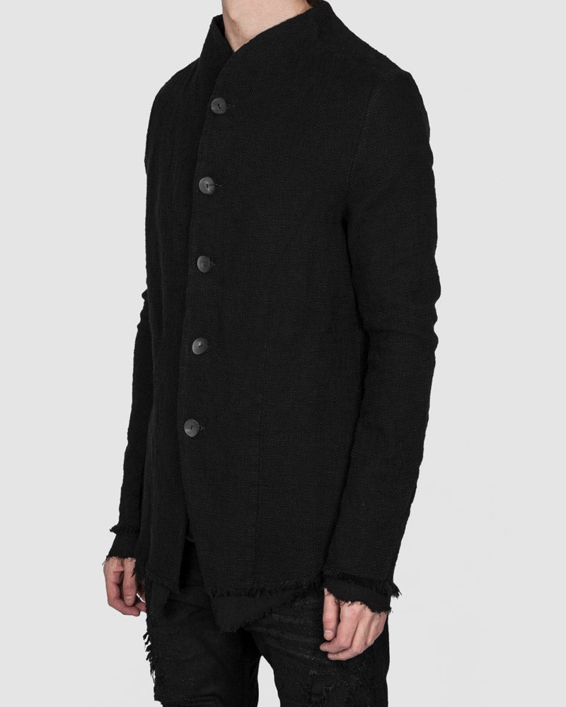 Army of me - Buttoned Layered cotton jacket black - Stilett.com
