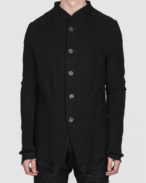 Army of me - Buttoned Layered cotton jacket black - https://stilett.com/