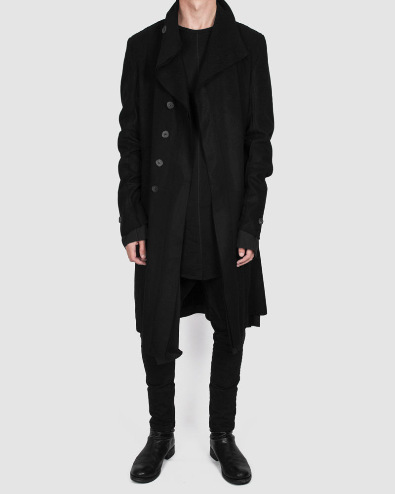 Army of me - Buttoned layered wool coat - Stilett.com