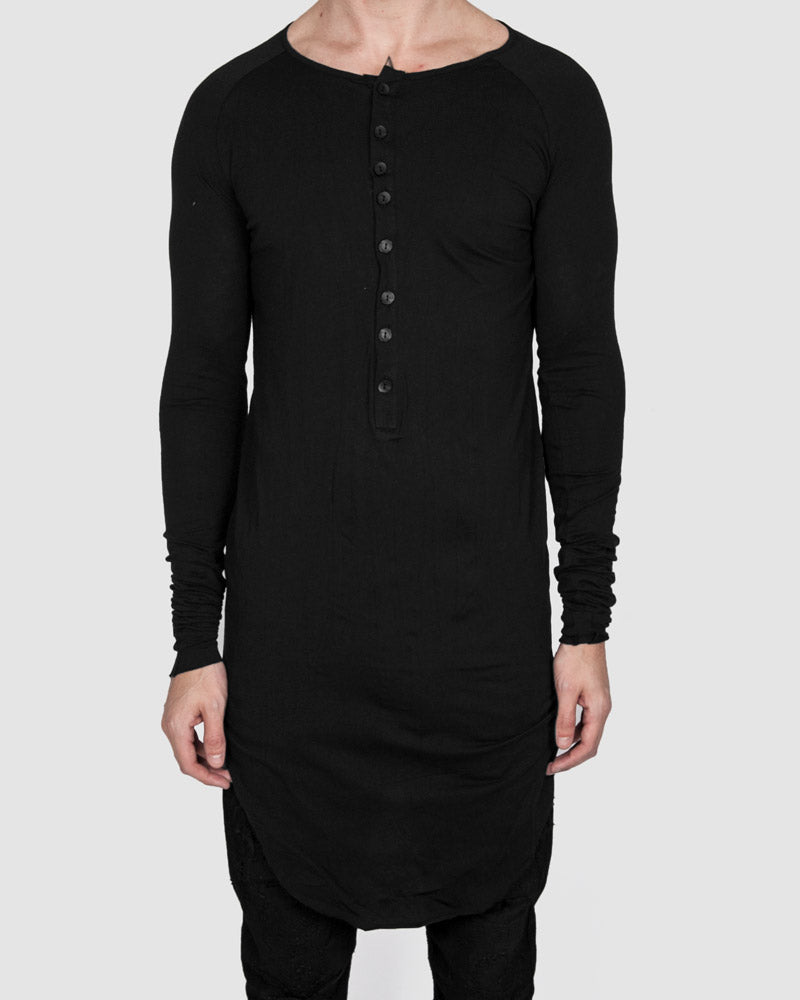 Army of me - Buttoned neck long sleeved tshirt - Stilett.com