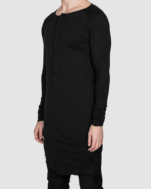 Army of me - Buttoned neck long sleeved tshirt - https://stilett.com/