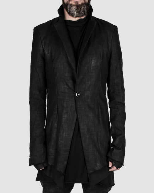 Coated blazer