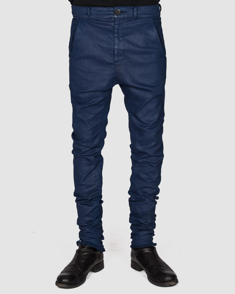 Army of me - Coated skinny trousers royal blue - Stilett.com