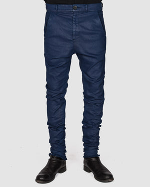 Army of me - Coated skinny trousers royal blue - https://stilett.com/