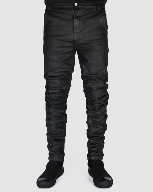 Coated twisted jeans