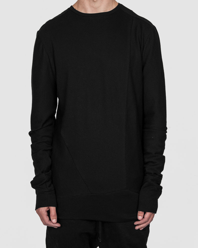 Army of me - Cotton rib sweatshirt black - https://stilett.com/