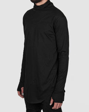 Army of me - Cotton turtle neck jersey black - https://stilett.com/