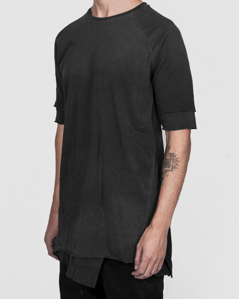 Army of me - Double layered cotton tshirt graphite - Stilett.com