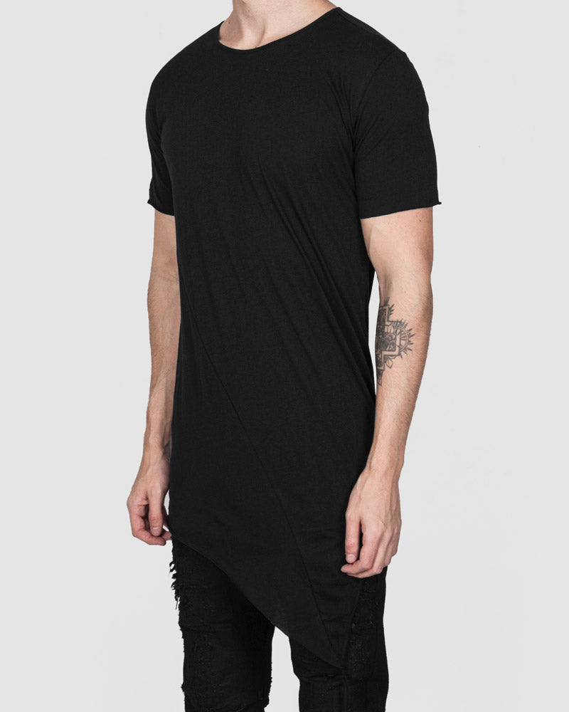 Army of me - Fine cotton asymmetric hem tshirt - Stilett.com