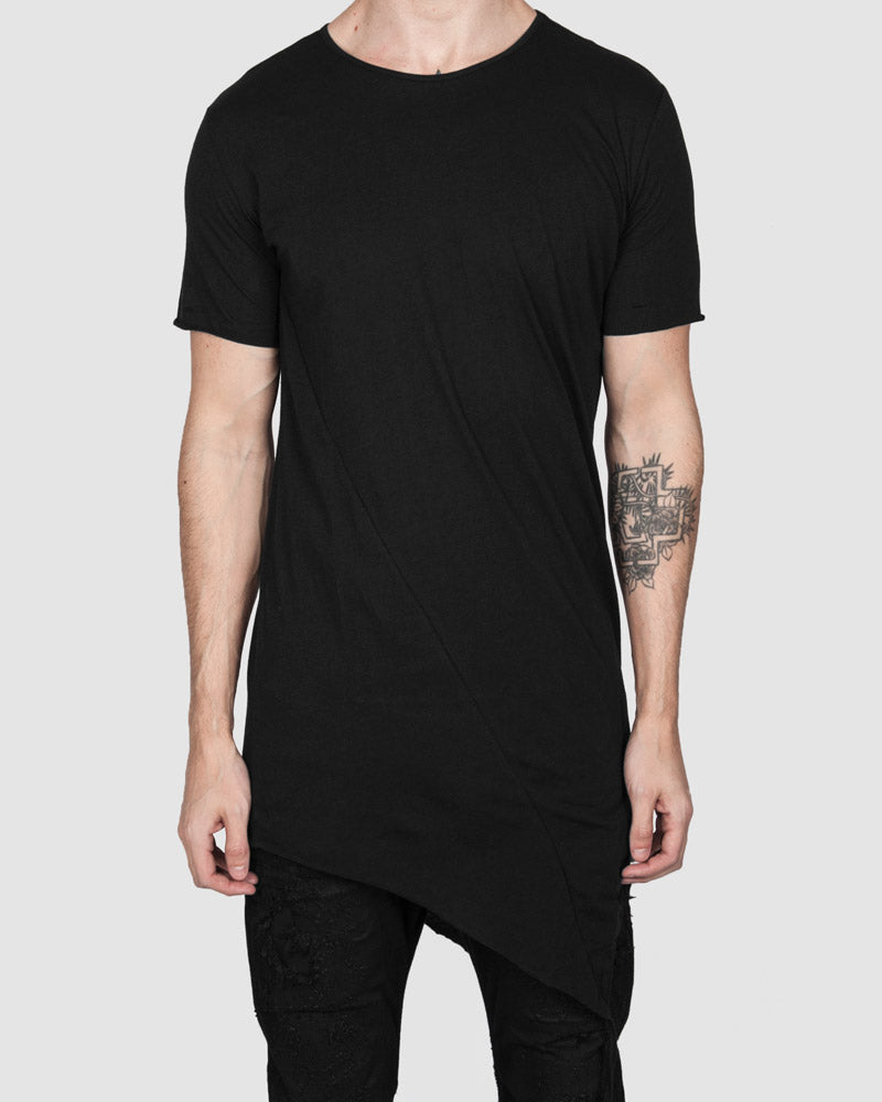 Army of me - Fine cotton asymmetric hem tshirt - https://stilett.com/