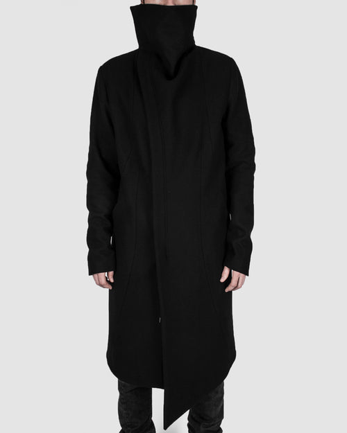 Highneck wool coat