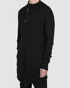 Army of me - Hoodless zip up sweatshirt black - https://stilett.com/