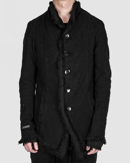 Army of me - Layered button up jacket black - Stilett.com