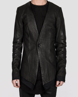 Army of me - Layered leather blazer - https://stilett.com/