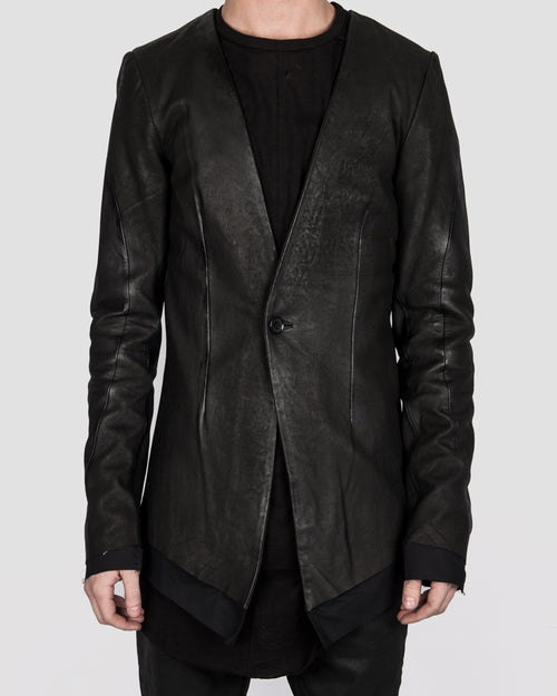 Army of me - Layered leather blazer - Stilett.com