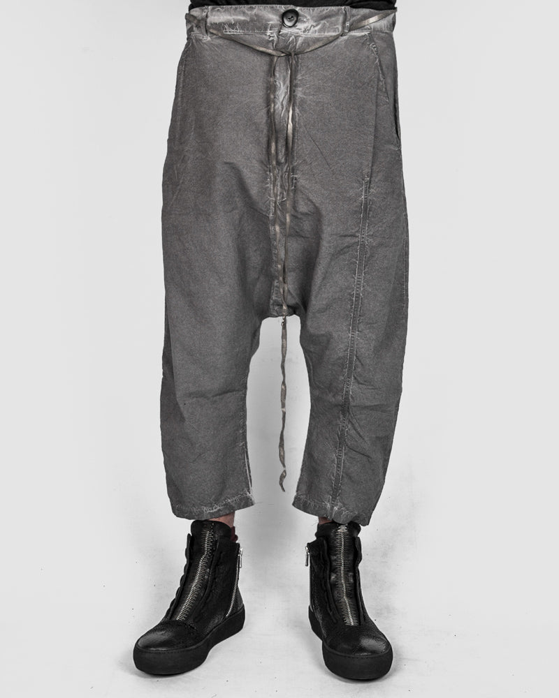 Army of me - Light cropped cotton trousers clay - https://stilett.com/