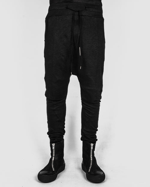 Army of me - Linen jersey skinny trousers - Stilett.com