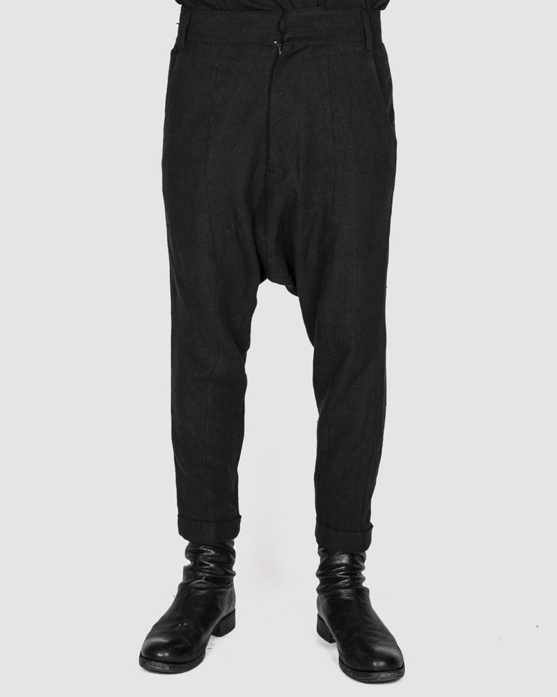 Army of me - Linen low crotch trousers - Stilett.com