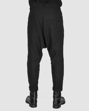 Army of me - Linen low crotch trousers - https://stilett.com/