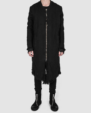 Army of me - Long layered bomber jacket black - https://stilett.com/