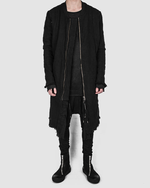 Army of me - Long layered bomber jacket black - Stilett.com